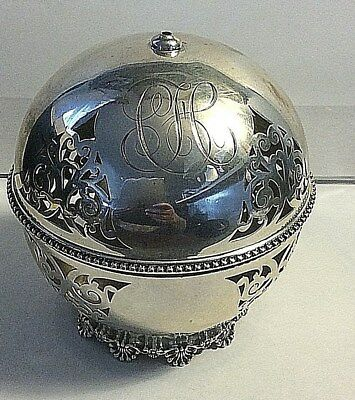 Antique Dominick & Haff Sterling Silver 1880's Ball Thread Holder Sewing #311