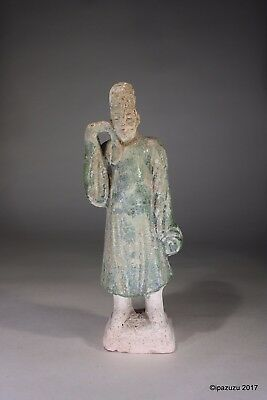 Antique Chinese Earthenware Figurine Tang Dynasty