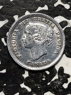 1858 Canada 5 Cent Silver Lot#JM079 Beautiful Detail, Cleaning