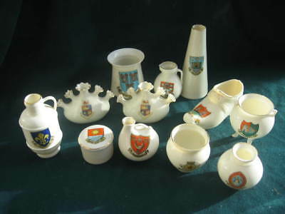 10 x Pieces of Vintage Crested China Goss, Coronet