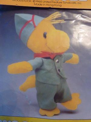 Vintage Peanuts Wardrobe Baby Plush 1965 Woodstock Scouting/Scout Outfit