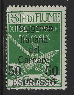 FIUME : 1920 EXPRESS LETTER 50c on 5c green SG E164 mint