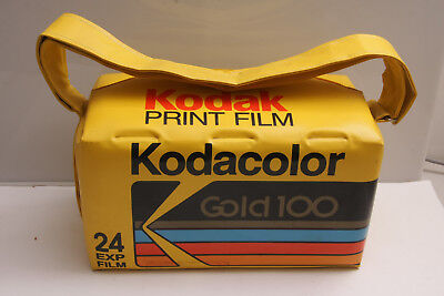 "Kodak Cooler ~14"" Kodacolor Gold 100 24Exp USA Promo Ad Beach Summer Vinyl M04"