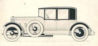 1917 Benz Close Coupled Sedan Automobile Detroit Styling Art Painting Ide md1073