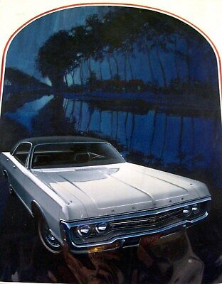 1970 Dodge Monaco ORIG. Detroit Advertising Styling Art Painting Weiland md189