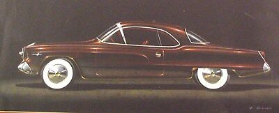 c. 1949 Studebaker Automobile Detroit Styling Art Painting Virgil Exner md278