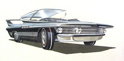 1961 Chrysler Turbo Concept Automobile Detroit Styling Art Painting Cody md318