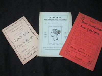 Three Nissen's Priced Catalogues Of Great Britain Stamps