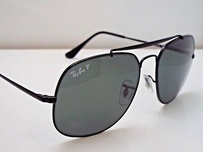 d4183e0106 Authentic Ray-Ban RB 3561 002 58 GENERAL Black Green Polarized Sunglasses   270
