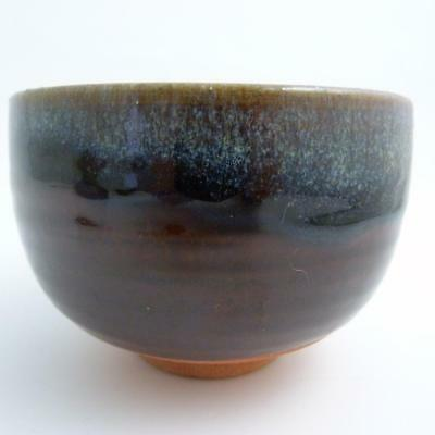 Japanese Pottery Bowl With Stunning Glazes, Impressed Seal Mark, 20Th Century