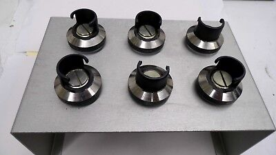 SIX SORVALL 08229 106g SWING ROTOR CENTRIFUGE TUBE BUCKETS & STAND 14 X 84mm