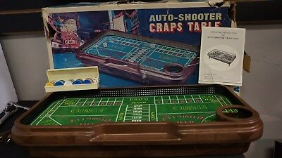 Vintage Waco Auto-Shooter Craps Table - Working W Instructions