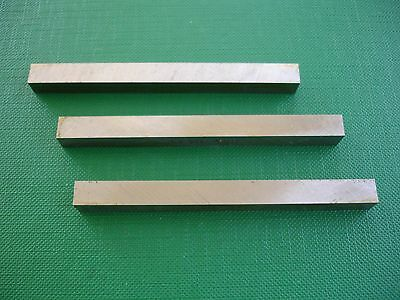 """3Pce 3""""L-1/2"""" Square M2 HSS  Fully Gound Metal Lathe Tool Steel Cutter Bits"""