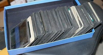 LOT of 64 BJ Palmer Chiropractic Davenport Iowa scientific xray GLASS SLIDES!