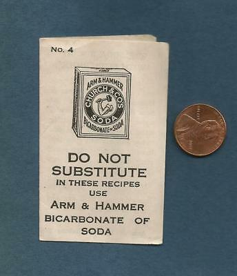 Vintage Ephemera Advertising Arm & Hammer No4 Biscuit Recipe Church & Dwight Co