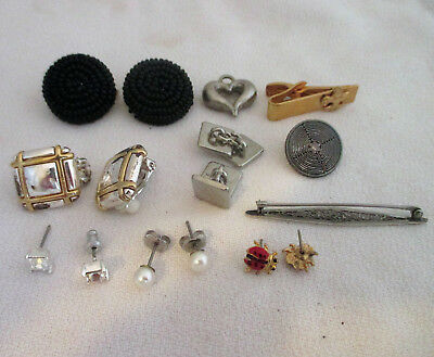 Mixed Lot Vintage Antique Costume Jewelry 10 Pieces Wearable Resale
