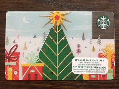 """Canada Series Starbucks """"CHRISTMAS WRAPPED CITY 2017"""" Gift Card - New No Value"""