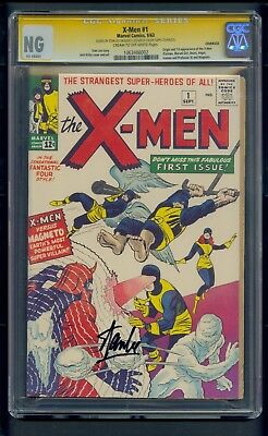 X-Men #1 (1963) CGC Signature Series Graded NG ~ Signed Stan Lee ~ Coverless