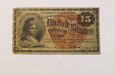 1863 15 Cents Fractional Currency - Fourth Issue - Fr1259
