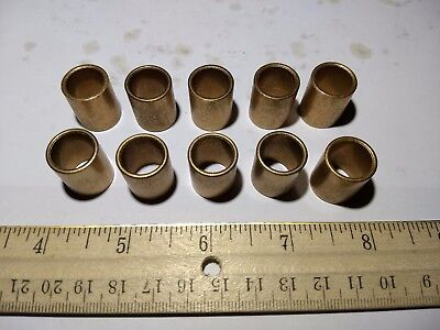 "(10) Boston Gear B810-6 Bushing 1/2"" ID 5/8"" OD Sintered Bronze Bearings"