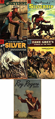 Dell 1950s Western Lot - Four (4) PLUS Post-Golden Book - Five (5) Books Total!