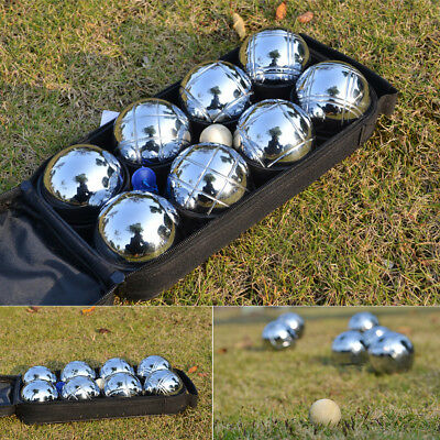 8 Ball Boule Bocce Petanque Balls Set Outdoor Sport Game w/ Carry Bag 4 Patterns