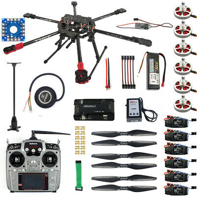 Full Set DIY Hexacopter Drone 6-axis Aircraft Kit GPS APM2.8 AT10 Remote Control