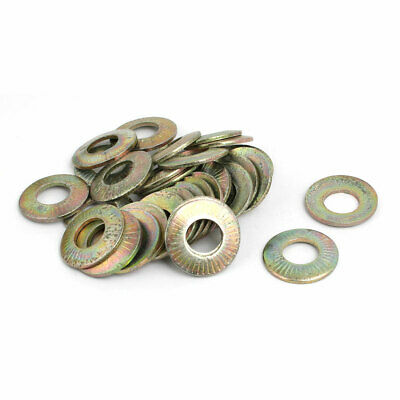 M10 Inner Dia Carbon Steel Serrated Conical Spring Washer Bronze Tone 30pcs