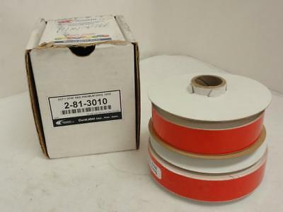 """156299 New In Box, Graphic Products 2-81-3010 BOX-2, Vinyl Tape, Red, Size: 1"""""""