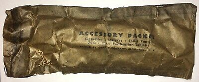 "Original WWII US Army USMC ""K"" Ration Accessory Packet: Gum-Cigarettes-Matches"