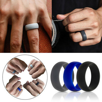 41b3a2795c149 3PCS SILICONE WEDDING Ring Rubber Band Sport Outdoor Flexible Men Women  Gifts