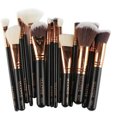 24Pcs Cosmetic Make up Brushes Face Powder Blusher Foundation Kabuki Brush Set