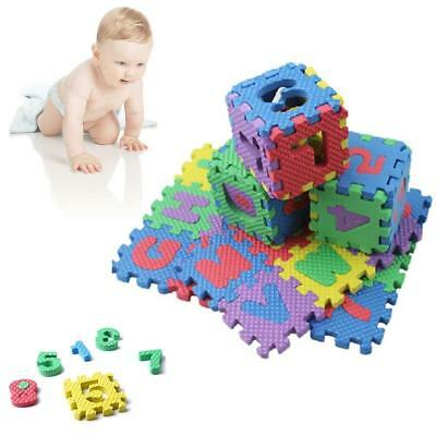 36Pcs Comfortable Alphabet Numeral Soft Foam Mat Play Mat Safety For Kid Gift