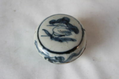 ming box Qing Chinese porcelain pottery bird decor 18th c century antique