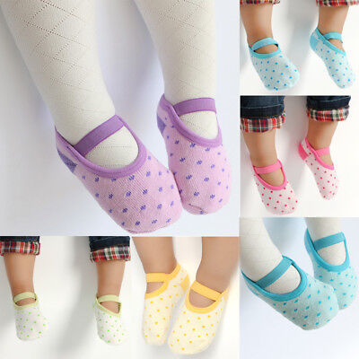 Unisex Baby Boy Girl Cotton Socks NewBorn Infant Toddler Non Skid Cotton Socks