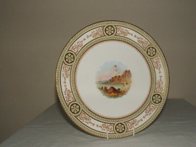 Mintons Rare Handpainted Coastal Scenes Cabinet Plate  Truly Stunning