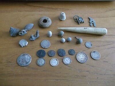 JOB LOT OF METAL DETECTING COIN FINDS ROMAN/SILVER/ARTEFACTS 99p GYP 4