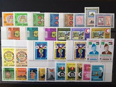 JORDAN MID-MODERN XF MINT NEVER HINGED GROUP OF STAMPS, TOPICALS, Jo21