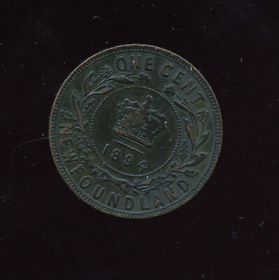 1894  Newfoundland Large Cent VF or better C791