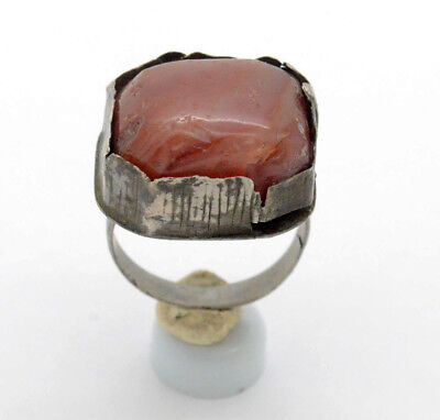 Post Medieval Silver Ring with gemstone 18 Century
