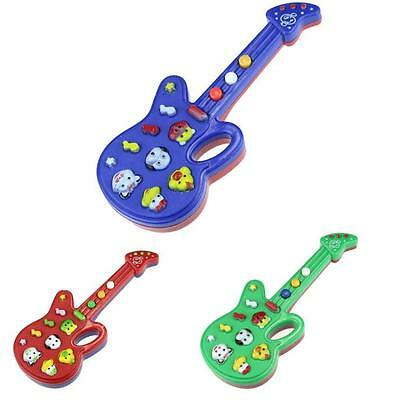 Electronic Guitar Toy Nursery Rhyme Music Children Baby Kids Gift N6B5