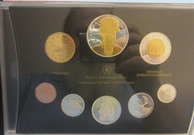 2007 Proof  Canadian Coin Set Commemorative & Aureate Dollar -- Free Shipping *