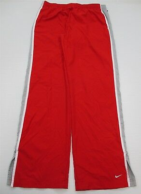 NIKE #PA4093 Women's Size L Athletic Casual Striped Red Track Suit Sweatpants
