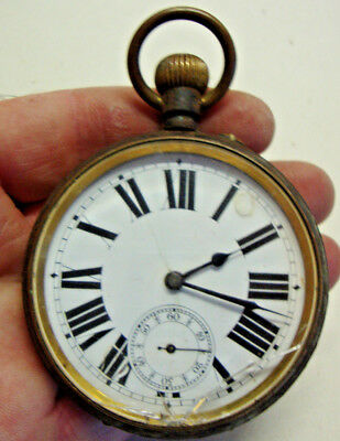 Early 20th century goliath pocket watch marked AUTOMOBILE REGULATEUR