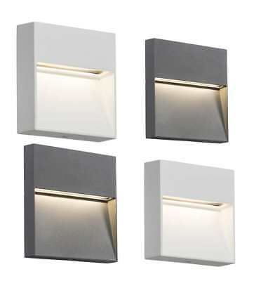 Knightsbridge 230V IP44 2W or 4W LED Square Wall/Guide Light White or Grey