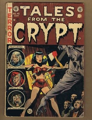 Tales From the Crypt 41 (INC) E.C. Comics 1954 Golden Age Jack Davis (c#16570)
