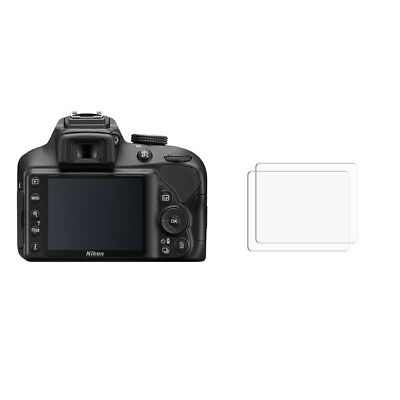 2 x Nikon D3400 Clear Screen Protector Cover Guard - Glossy