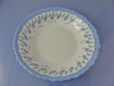 LUMINARC ARCOPAL SOUP, CEREAL BOWL  Blue Border Flowers Scalloped