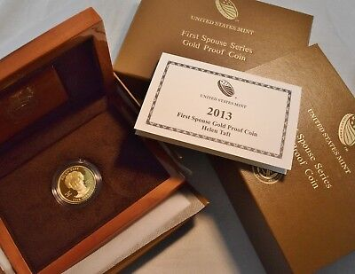 2013 W $10 Gold First Spouse Series Helen Taft PROOF Coin, 1/2 oz. Low Mintage