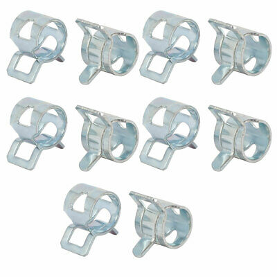 10 Pcs 8mm Spring Band Type Action Fuel Hose Pipe Low Pressure Air Clip Clamp